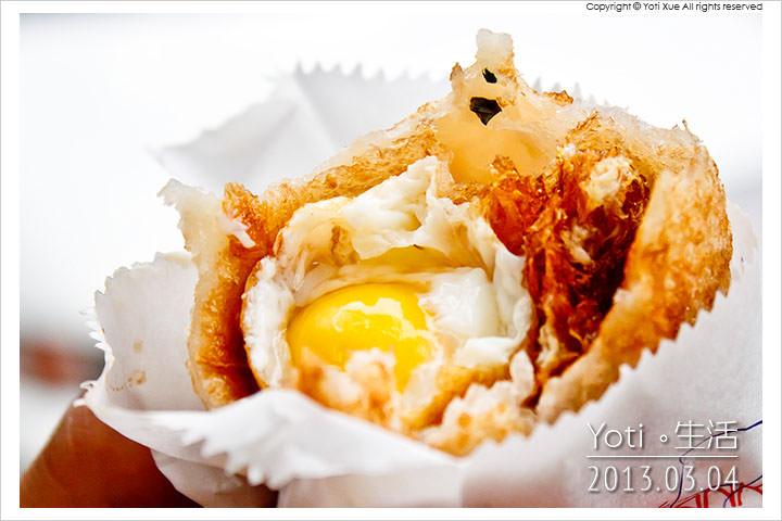 [花蓮美食] 老牌炸蛋蔥油餅(藍色發財車)