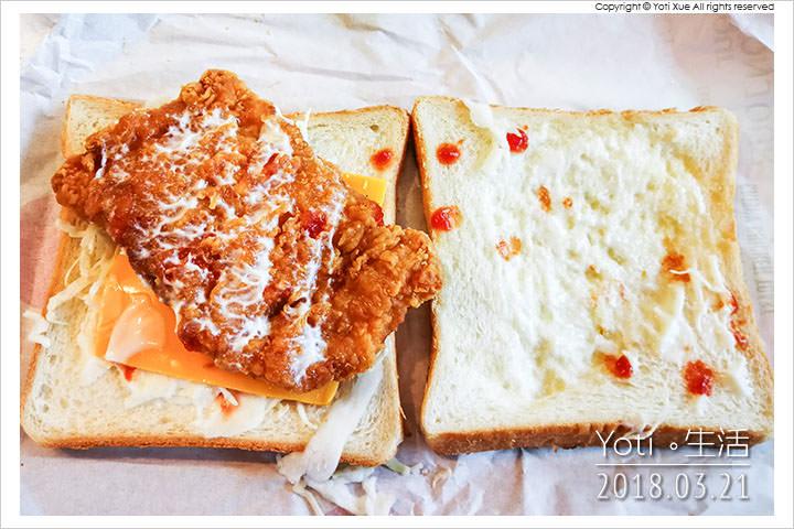 麥當勞-大方烤吐司-脆雞腿排烤土司