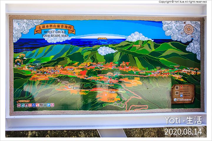 花蓮玉里-赤科山地圖